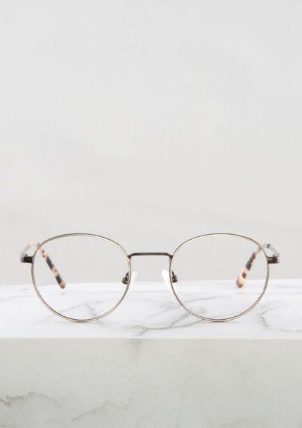 Denis gafas dorado cobre