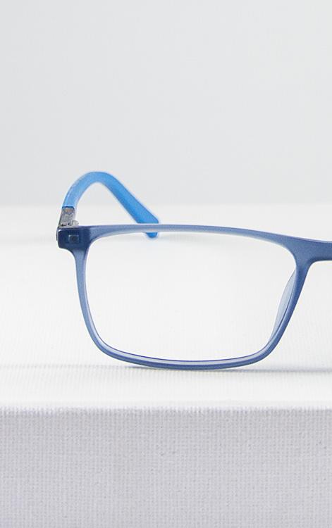 Doo gafa infantil graduada azul detalle frente