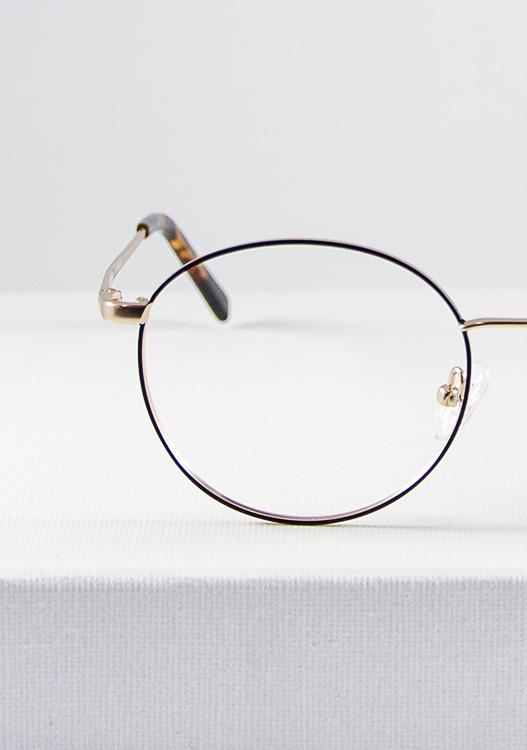 Mika gafa dorado marron detalle frente