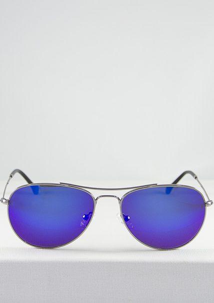 Minsk Gafas de Sol Metal Espejjo Azul