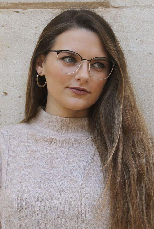 Dalas gafa graduada negro dorado chica