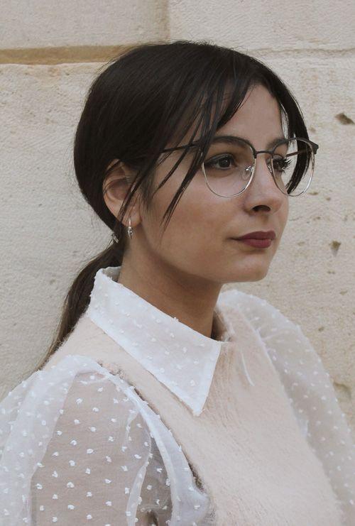 Dalas gafa graduada negro plata chica
