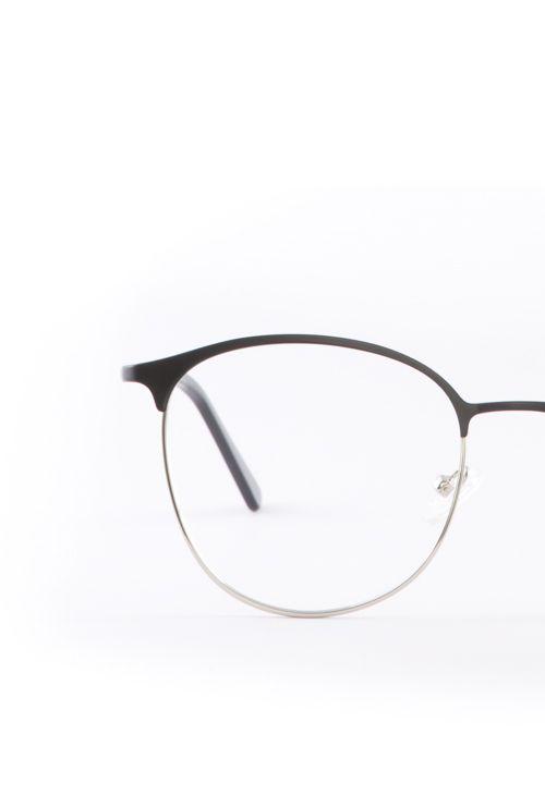 Dalas gafa graduada negro plata frontal