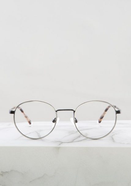 Denis gafa graduada filtro azul negro plata principal