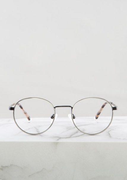 Denis gafas graduadas negro plata principal