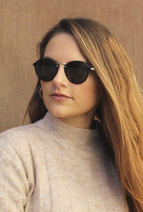 Dover gafa sol negro chica rubia