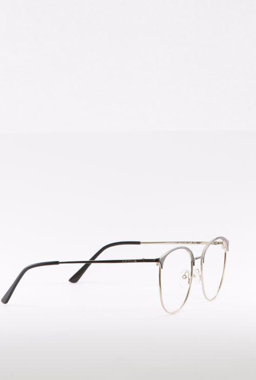 dalas gafa graduada negro dorado lateral entero