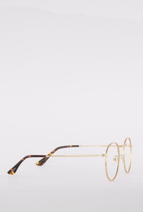 Otto gafa graduada dorado lateral entero