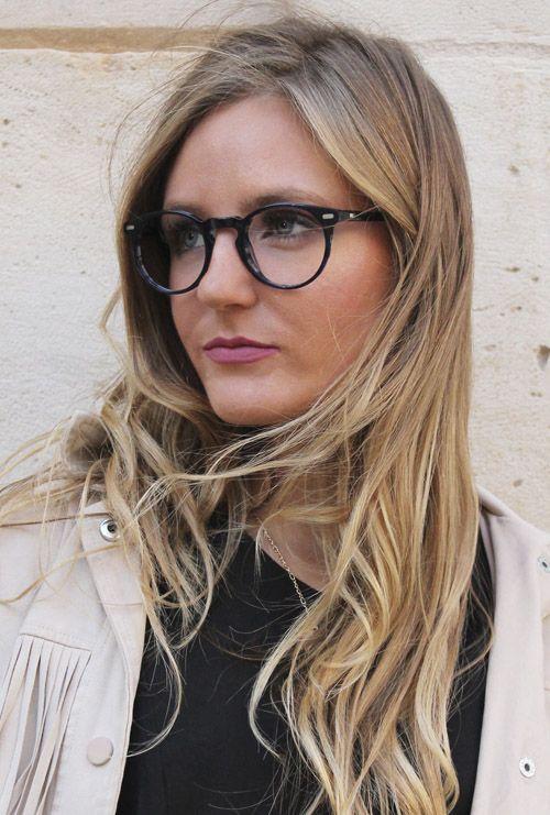 Kaney gafa graduada azul jaspeado modelo chica