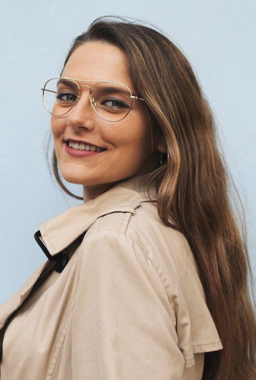 Kiel gafa filtro azul dorado modelo chica