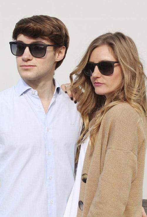 Logan gafa sol graduada azul pareja