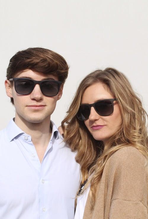 Logan gafa sol graduada negro pareja