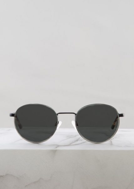 London gafa sol negro plata principal