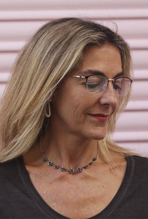 Lucian gafa progresiva negro plata mujer