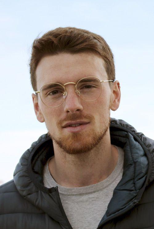 Otto gafa graduada fotocromática dorado