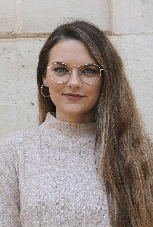 Otto gafa graduada dorado modelo chica rubia