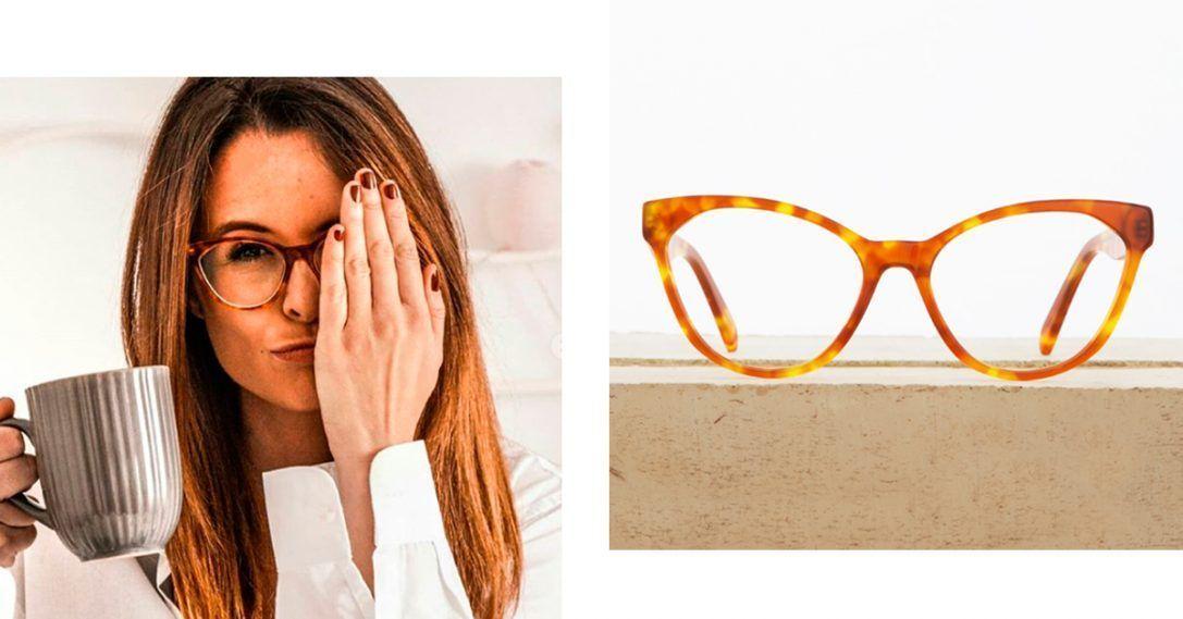 ac2a4b42a4 ... elige uno de los diseños de gafa de vista más rompedores y femeninos.  Se trata del modelo Noah Habana Caramelo. Para las más atrevidas, ...