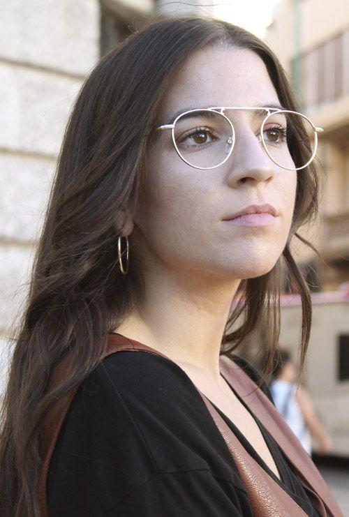 Louise gafa graduada dorado modelo chica